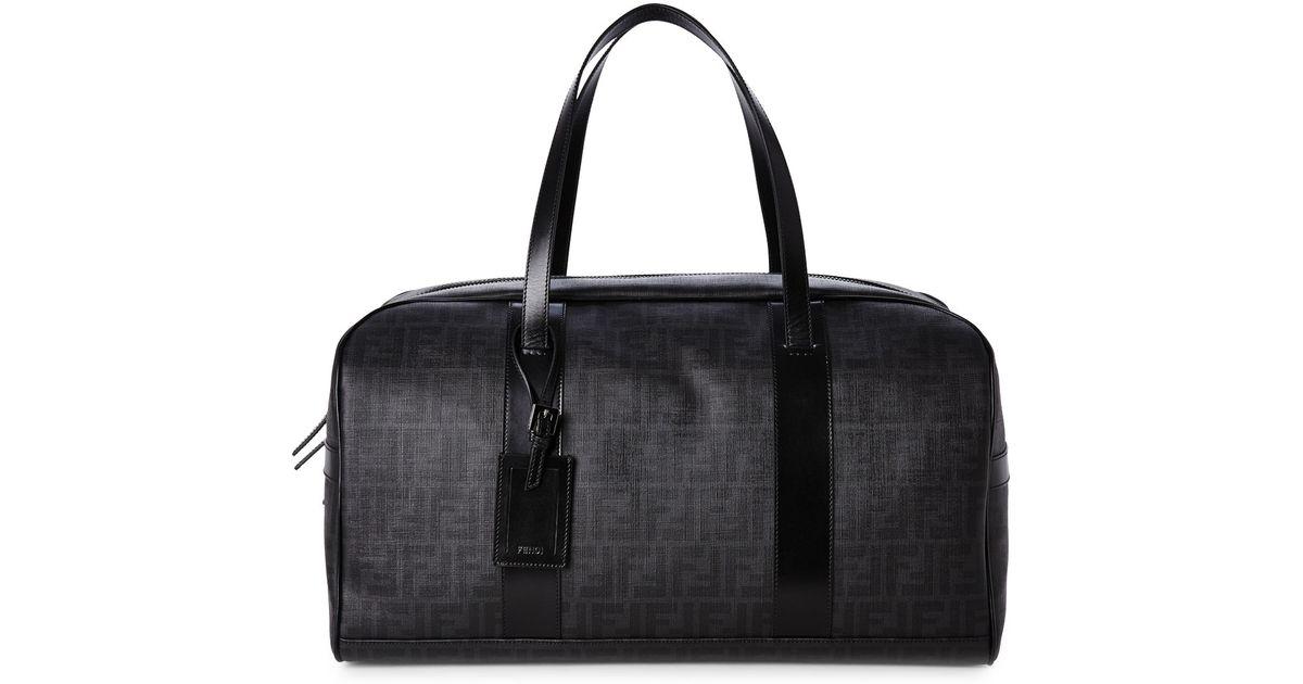 ... italy lyst fendi black zucca weekender bag in black for men 333ec 4b4b6 ca57f082040dd