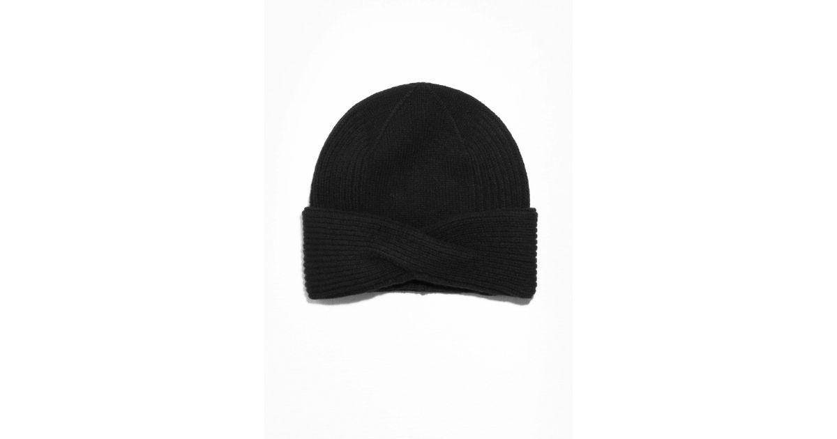ddce2c06c2b Lyst -   Other Stories Wool Cable Knit Beanie in Black