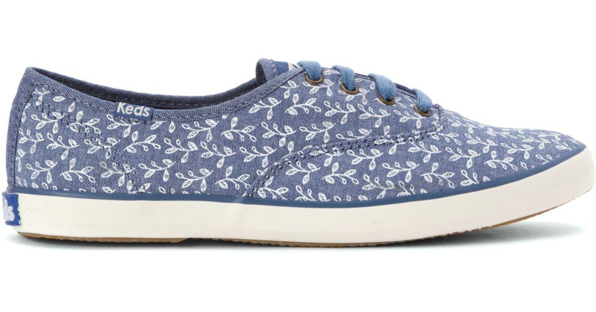 c86fedf9189e6 Lyst - Keds Champion Botanical Leaves Sneaker in Blue