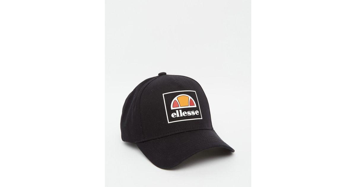 d290b3b88a0 Ellesse Box Logo Baseball Cap Exclusive To Asos in Black for Men - Lyst