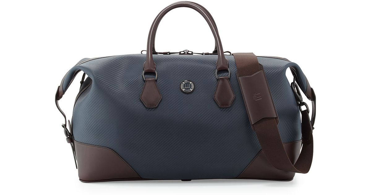 4e976888ca Lyst - Dunhill Chassis Leather Holdall Duffel Bag in Blue for Men