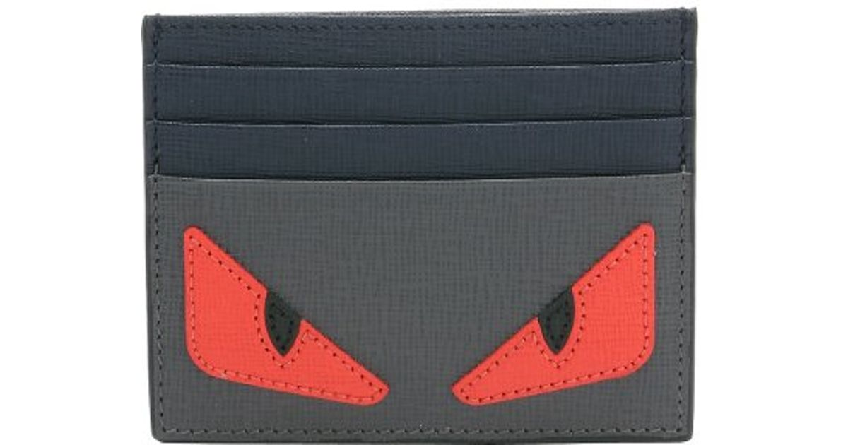 Fendi Monster Wallet Grey