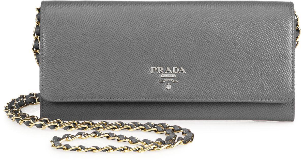 prada chain wallet