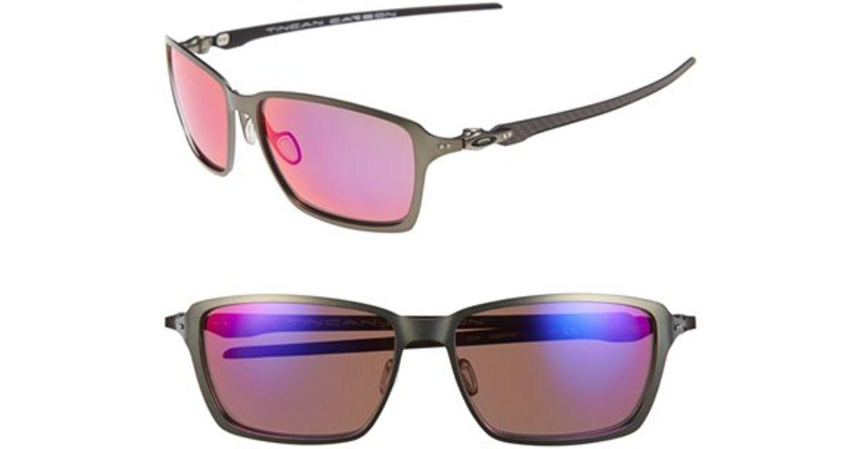 795c64b1a5 Lyst - Oakley  tincan Carbon  58mm Polarized Sunglasses - Carbon  Oo Red  Iridium in Black for Men