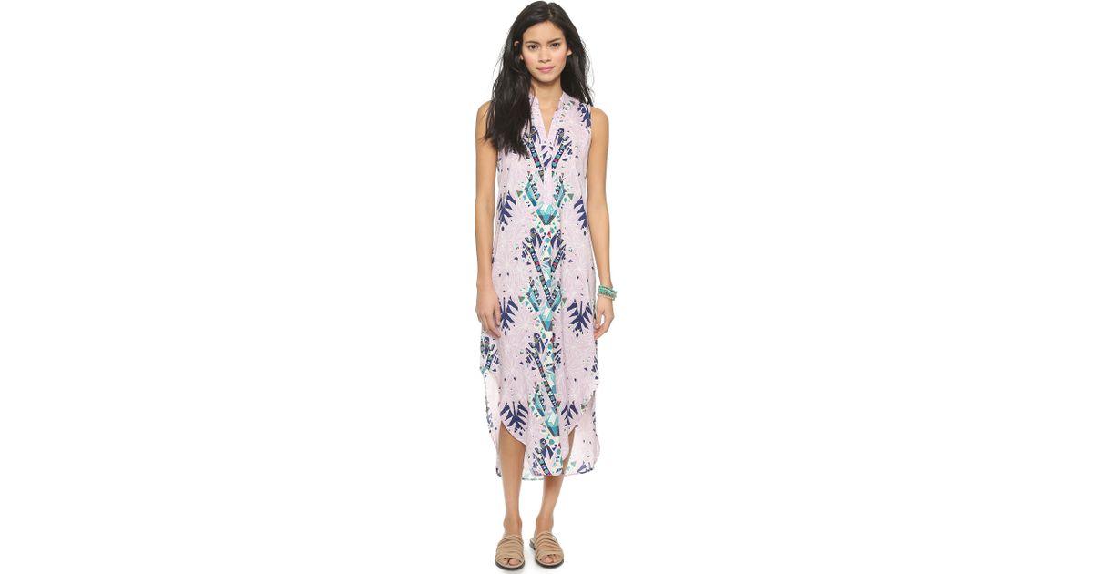 c8da2fde Mara Hoffman Shirt Dress - Maristar Lilac in Blue - Lyst