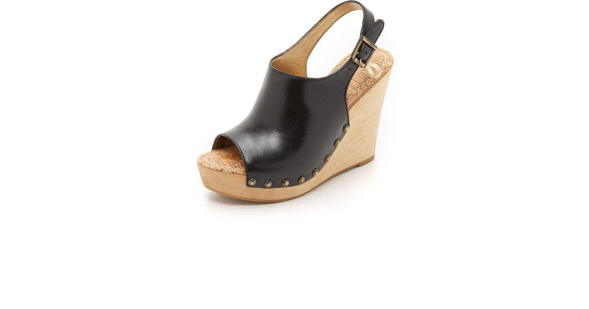 Sam Edelman Camilla Leather Sandals In Black Lyst