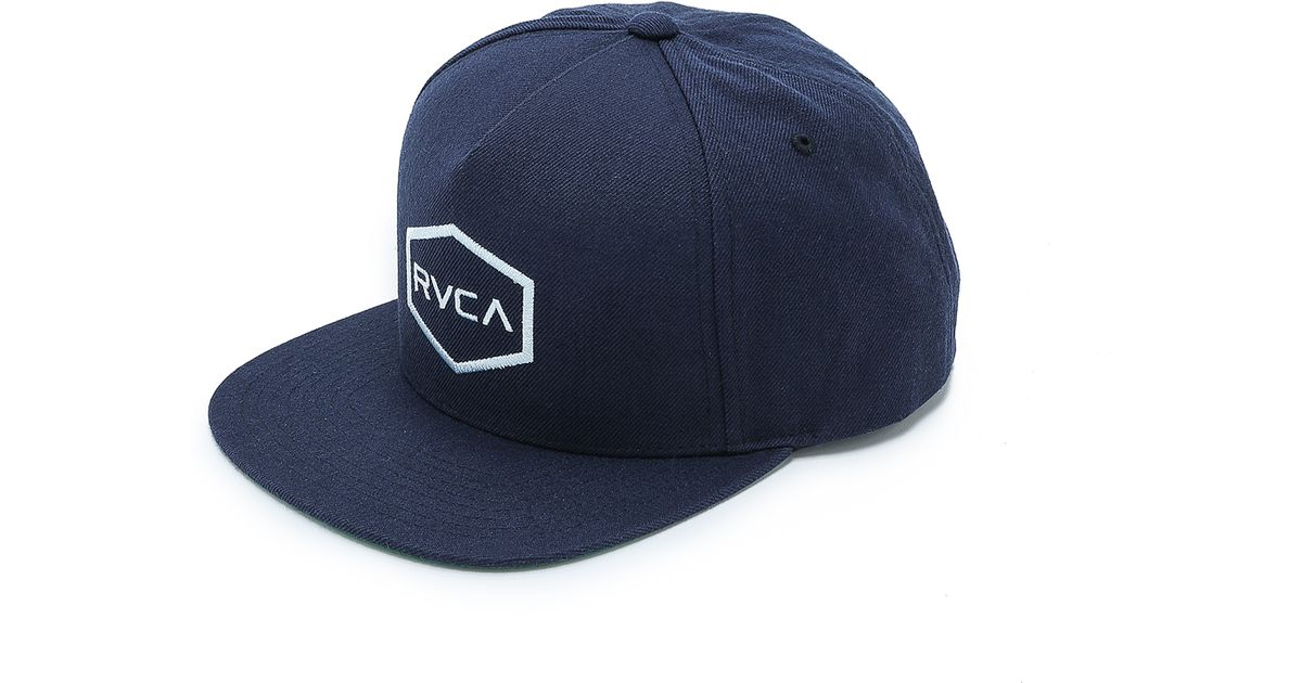 0a2a3c264830e sale lyst rvca commonwealth snapback hat in blue for men 71b24 be101