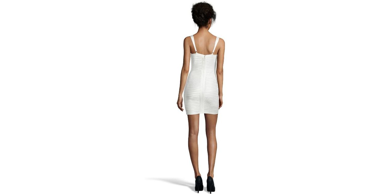 Rivas cocktail dress bcbg white romper