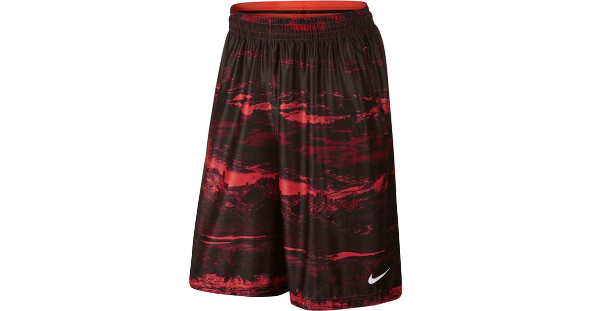Fit Nike Shorts Dri Lebron Basketball Print Lyst Elite Ultimate In 1awxq7xvS