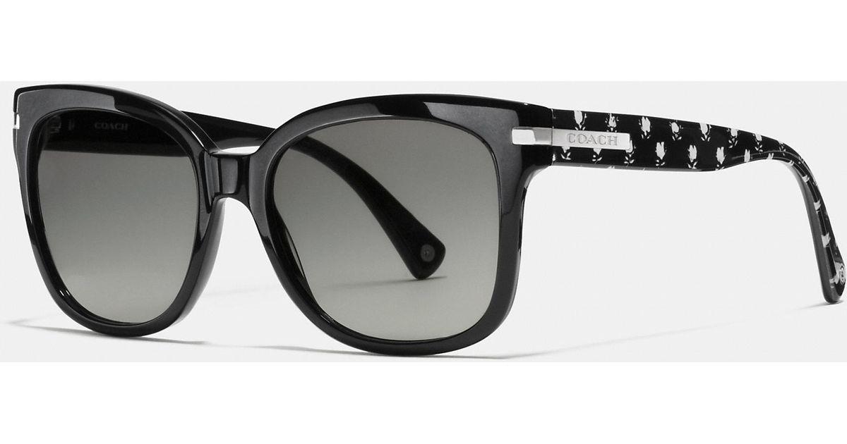 e6f0de2fad1 ... get lyst coach alfie sunglasses in black 5ef2d 60360