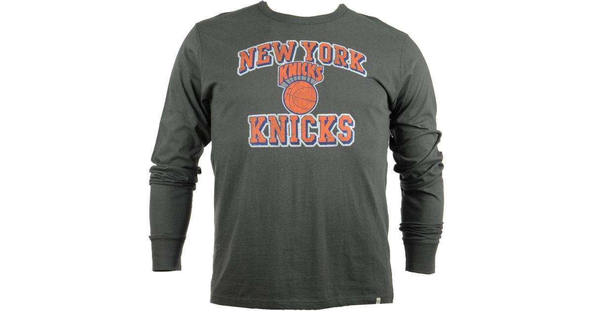 Lyst - 47 Brand Men s Long-sleeve New York Knicks Flanker T-shirt in Gray  for Men 677a53609