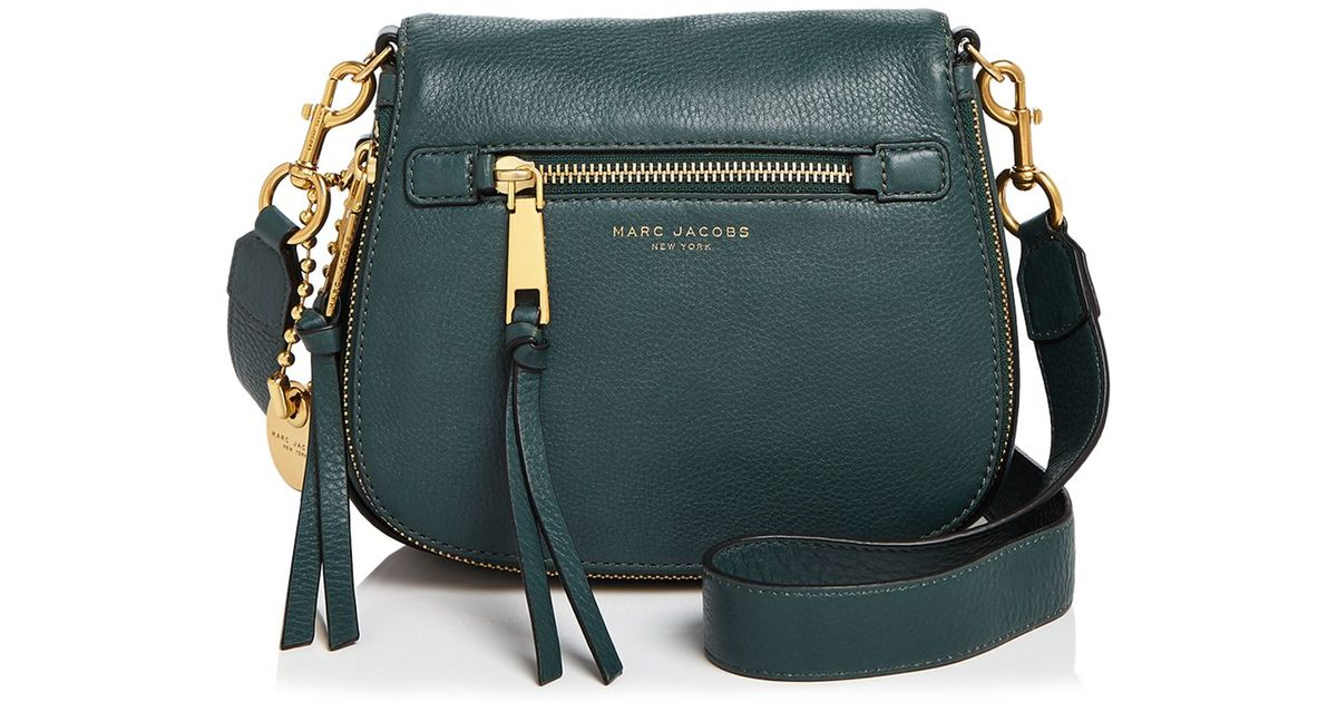f6c35ff6cc6 Marc Jacobs Recruit Small Saddle Bag in Green - Lyst