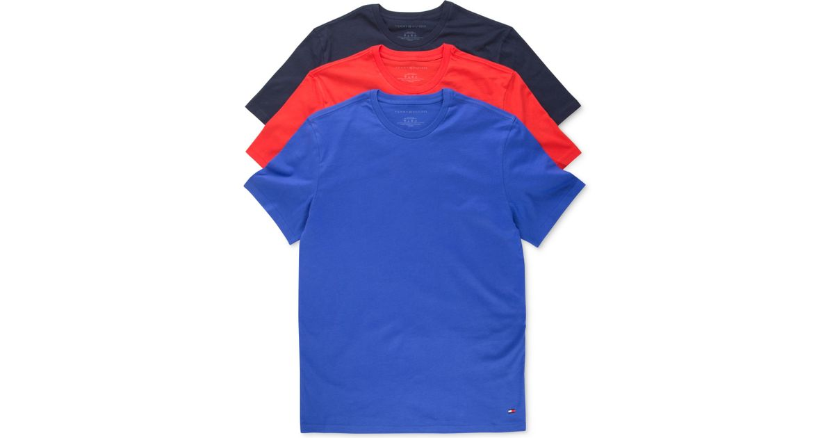 46b8941b Tommy Hilfiger Men's Classic Crew T-shirts 3-pack in Green for Men - Lyst