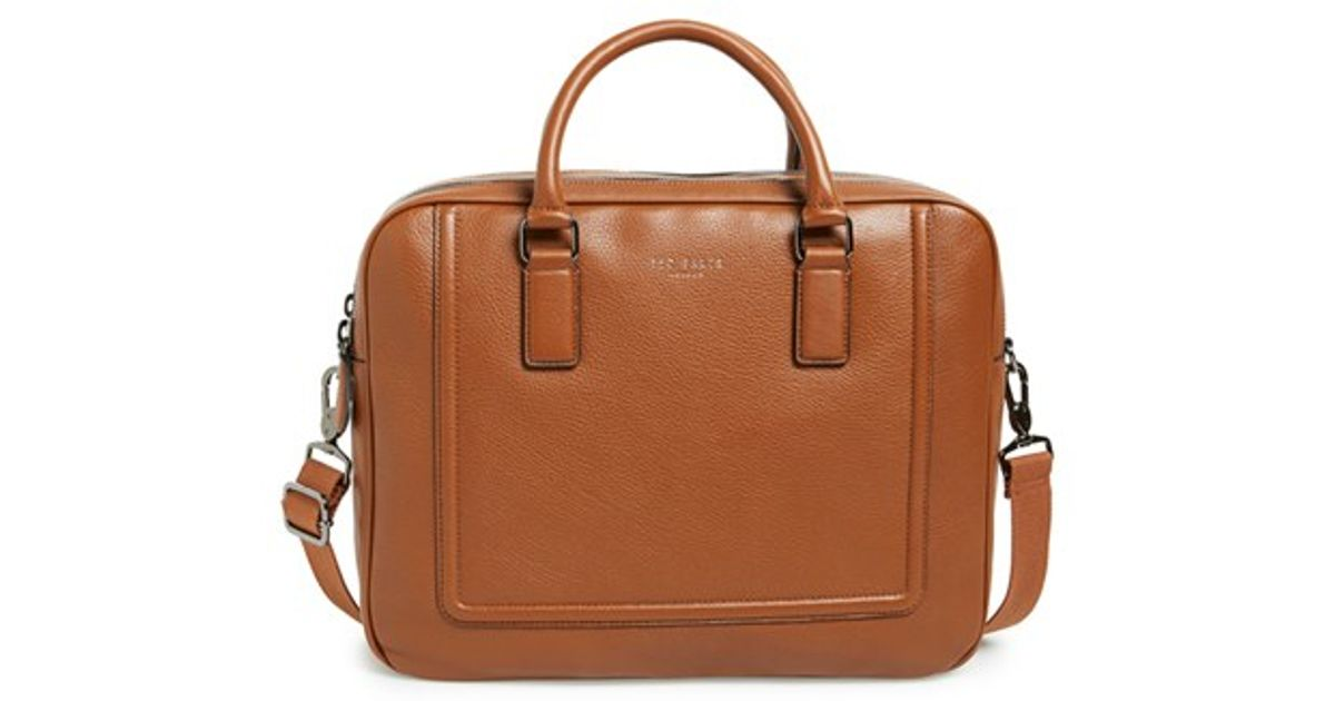 a95185b3638033 Lyst - Ted Baker  ragna  Leather Bowler Bag in Brown for Men