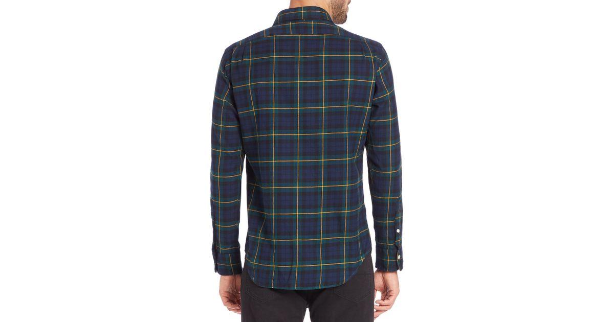 5f9984f33 Polo Ralph Lauren Plaid Twill Shirt in Blue for Men - Lyst