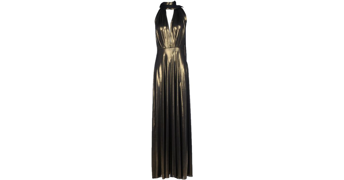 b887e1208d Lyst - Von Vonni Long Dress in Metallic