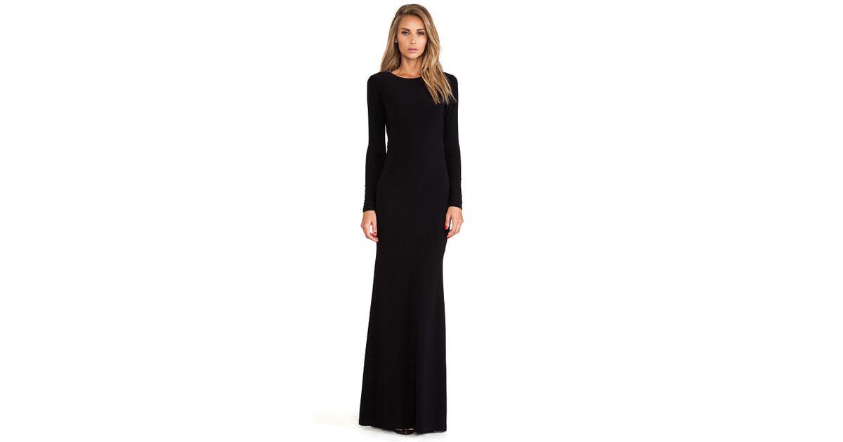 b22e4dd4afae Alice + Olivia Long Sleeve Maxi Dress in Black - Lyst
