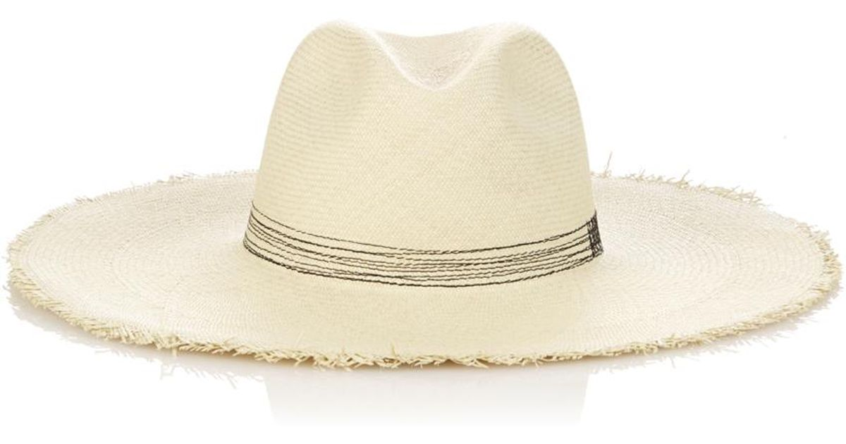 Bali Buntal striped wide-brimmed straw hat Fil t8by3ln