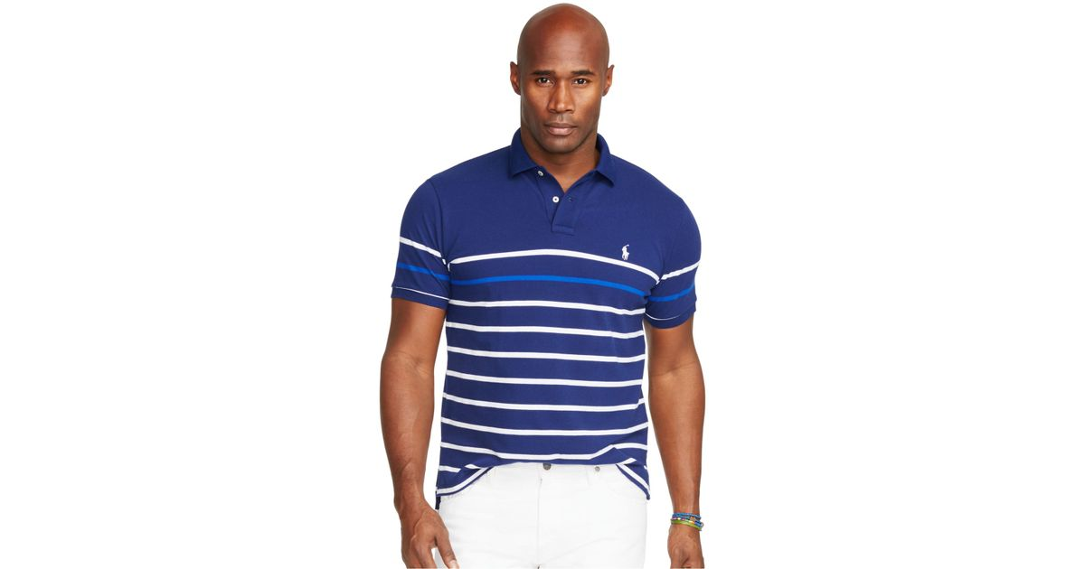 Polo Ralph Lauren Men 39 S Big And Tall Striped Mesh Polo