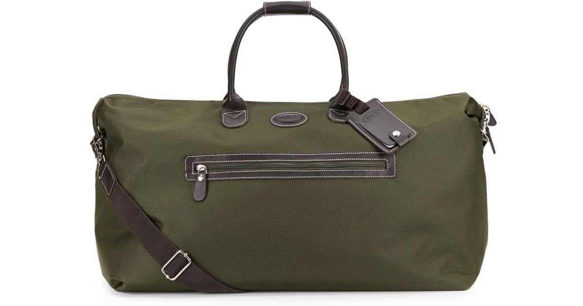 Bric's 22 Canvasleather Weekender Bag in Green for Men | Lyst