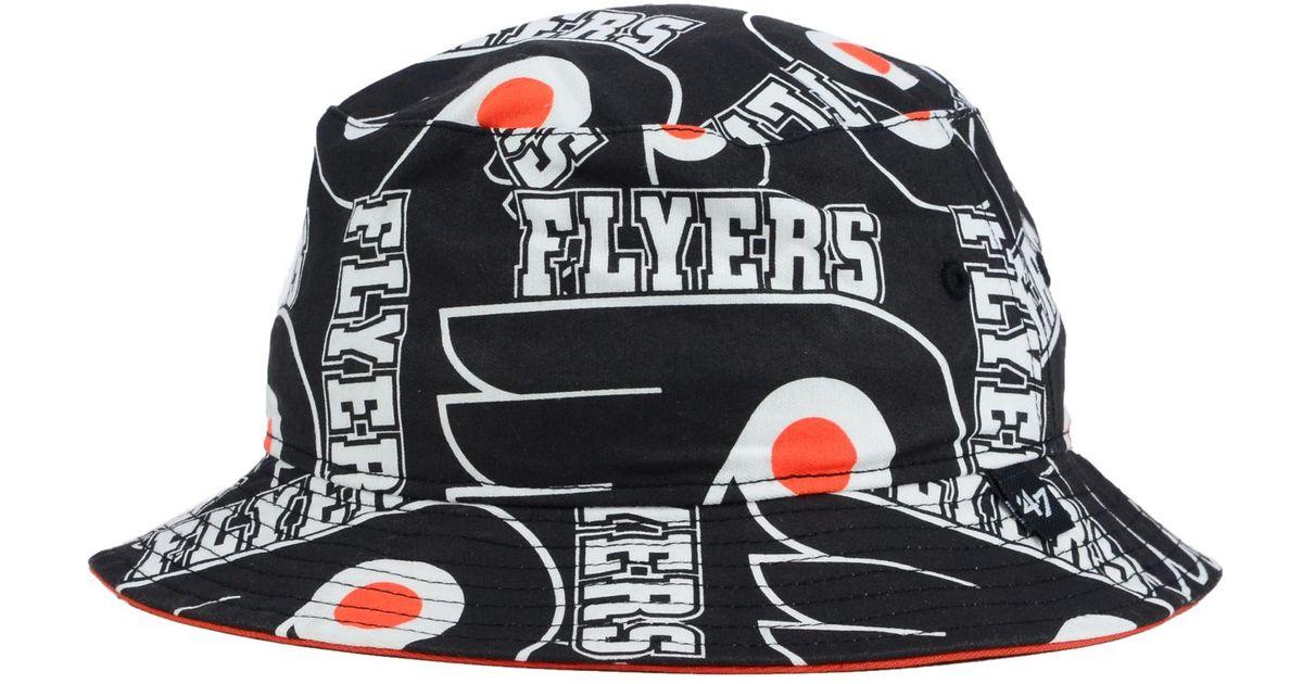 Lyst - 47 Brand Philadelphia Flyers Bucket Hat in Black f41da96a764