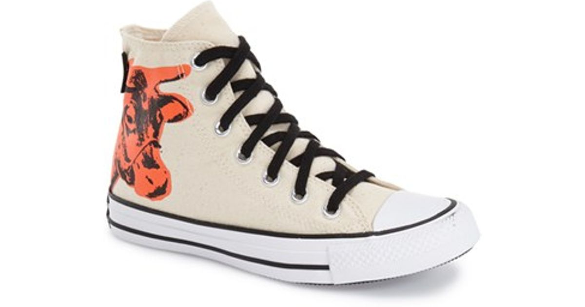 878b04f8fa1d Lyst - Converse Chuck Taylor All Star Andy Warhol Collection High Top in  Natural