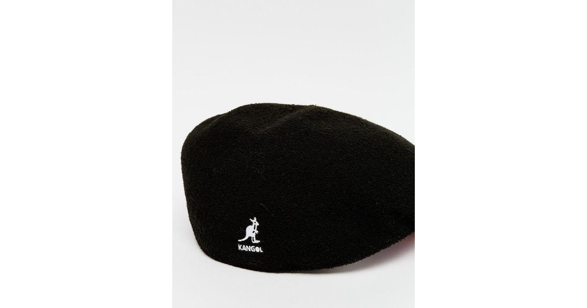 Kangol Bermuda 504 Flat Cap in Black for Men - Lyst e0cacd78575