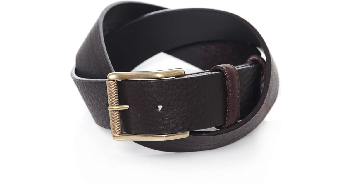elliot saddle leather belt in brown for lyst