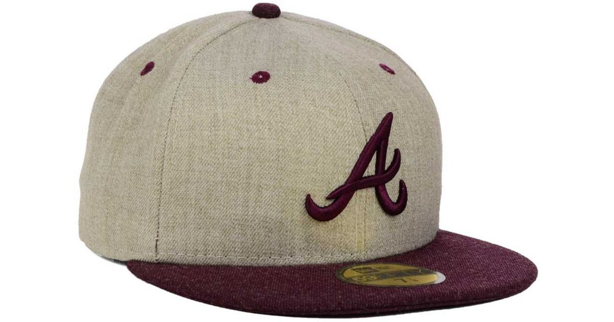 Lyst - KTZ Atlanta Braves Heather Mashup 59Fifty Cap in Natural for Men c50eed65a75e