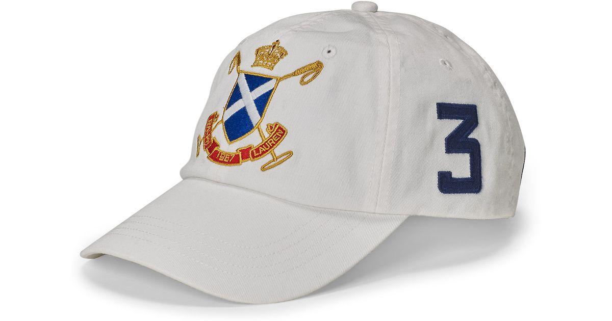 Lyst - Polo Ralph Lauren Blackwatch Cotton Baseball Cap in White for Men fbe3cc3ec40