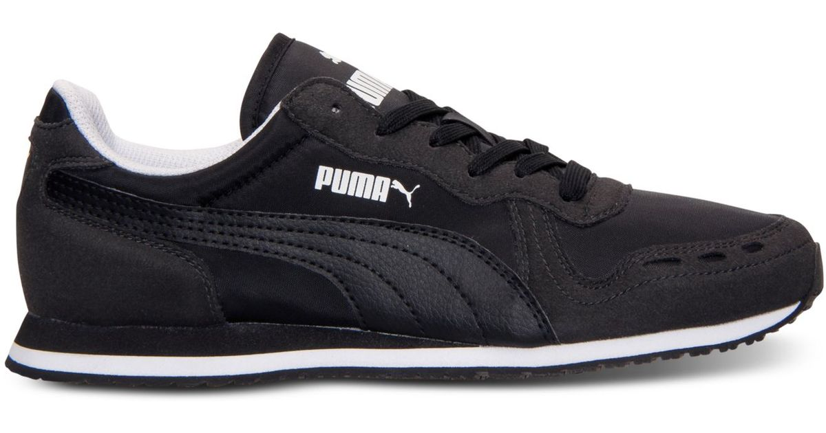 Lyst - PUMA Women s Cabana Racer Fun Casual Sneakers From Finish Line in  Black 87ca93fe8c