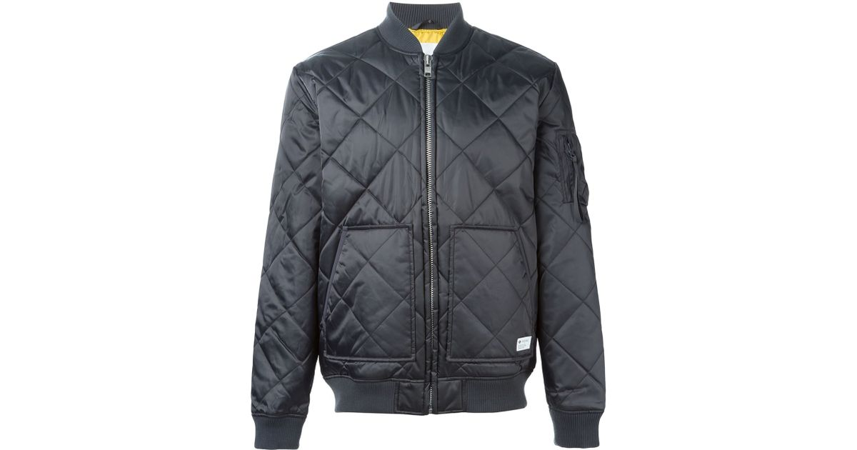 702609947 Lyst - adidas Originals Quilted Bomber Jacket in Gray for Men