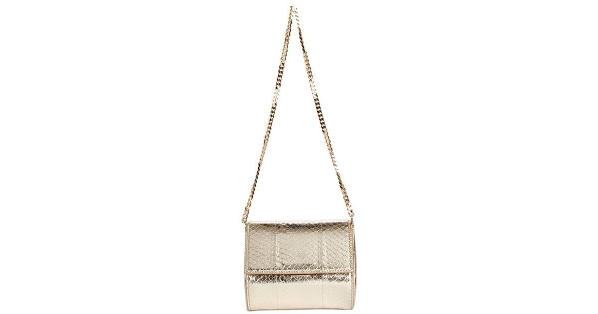 85eae093def Givenchy Mini Pandora Box Snakeskin Minaudiere in Metallic - Lyst