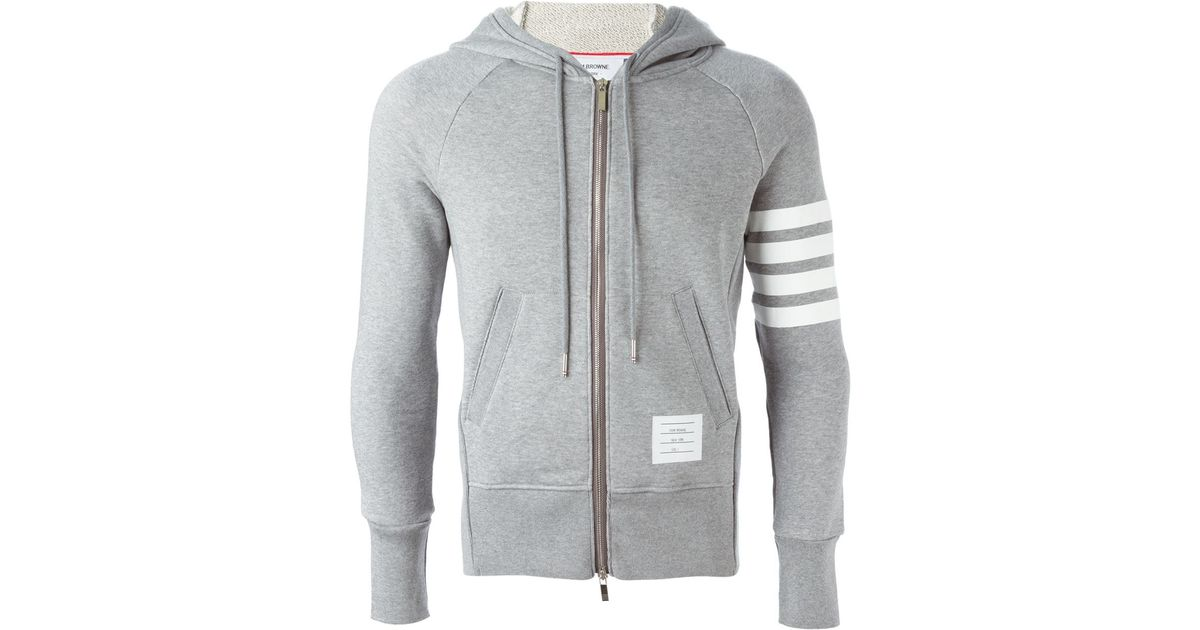 Grey And Black Striped Hoodie - Interracial - Keineahnungvongarnixcom-3497