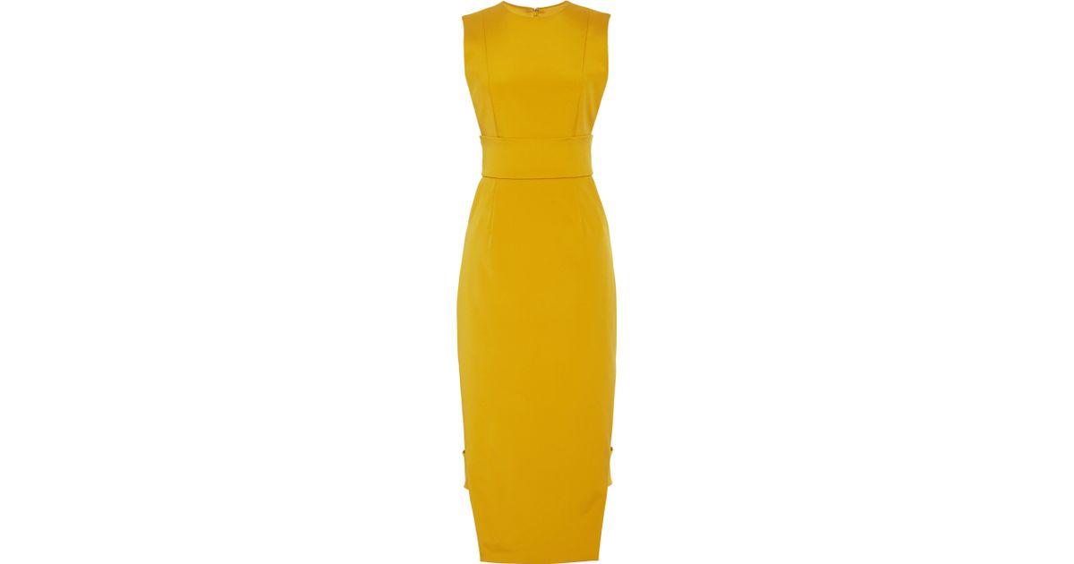 5d259d323303 Cushnie et Ochs Power Nylon Marigold Dress in Yellow - Lyst