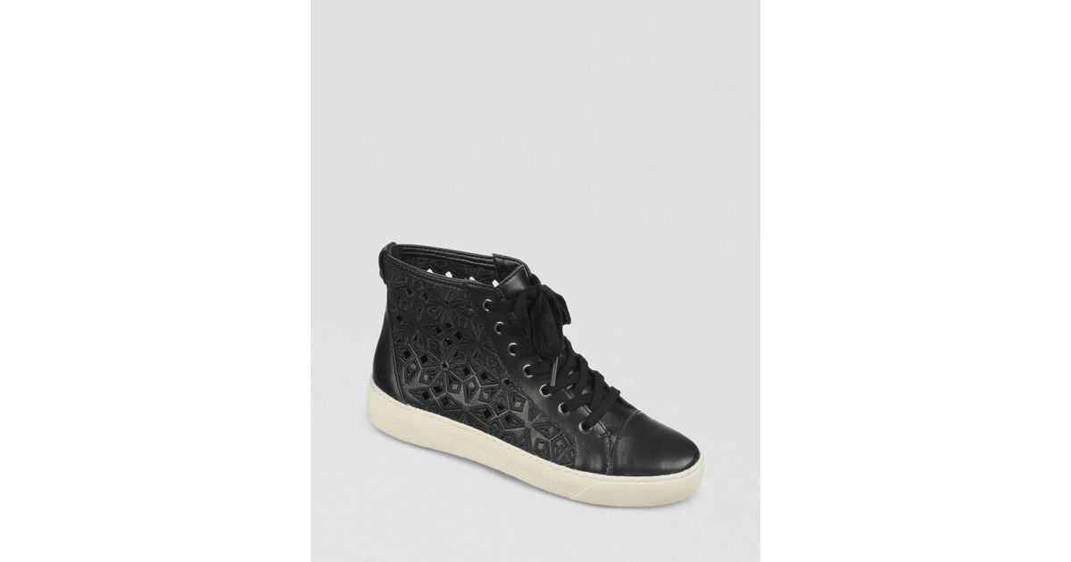 9449c57d4dc0 Lyst - Sam Edelman Lace Up High Top Sneakers Branson Perforated in Black