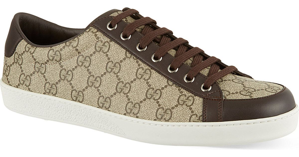665a0ff48c9 Gucci Brooklyn Gg Low Top Trainers in Natural for Men - Lyst