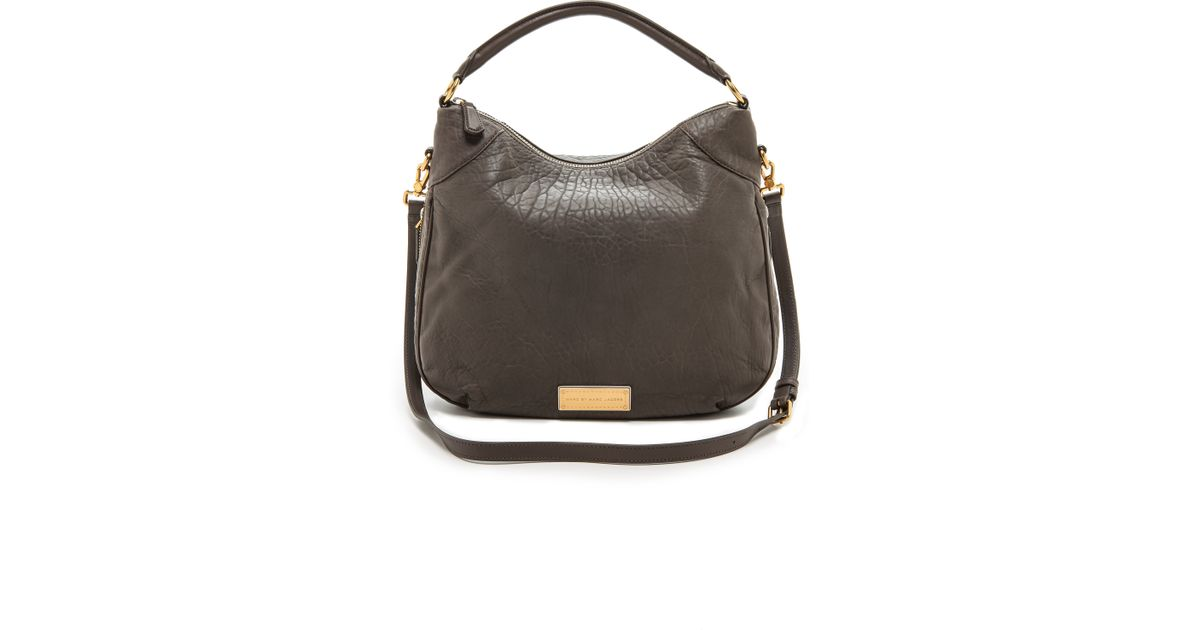 0983f057a9c Lyst - Marc By Marc Jacobs Washed Up Billy Hobo Bag - Faded Aluminum in  Brown
