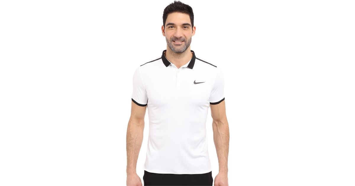 a24f3e2f Lyst - Nike Court Advantage Solid Tennis Polo in Black for Men
