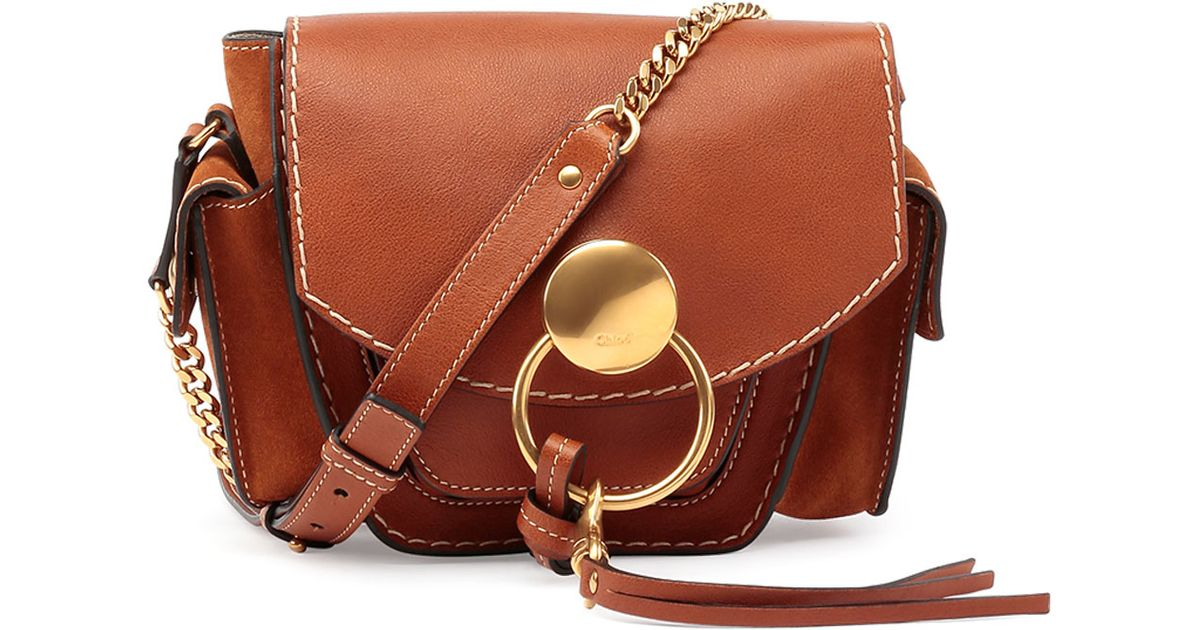 Chlo�� Jodie Small Leather Camera Bag in Brown (CARAMEL) | Lyst