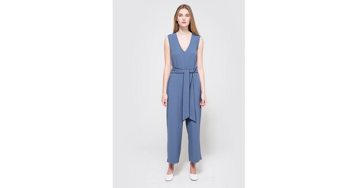 adb46fa8c723 Ganni Clark Jumpsuit in Blue - Lyst
