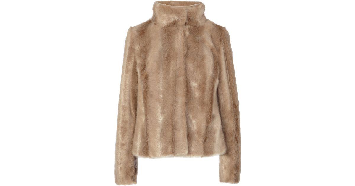 Coast Chelsea Faux Fur Coat in Natural | Lyst