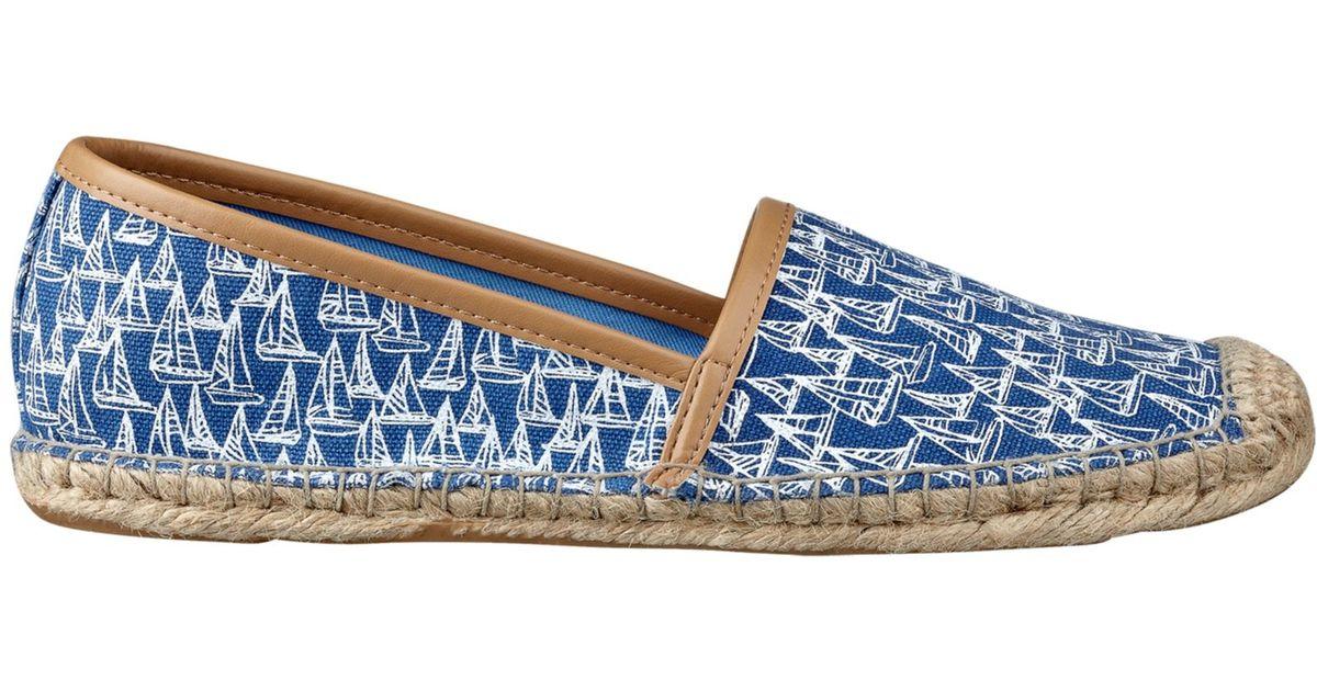190b785993416e Lyst - Tommy Hilfiger Womens Heyda Espadrille Flats in Blue