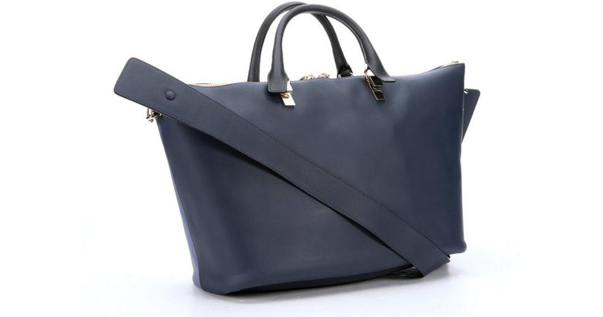 Chlo¨¦ Street Blue And Navy Leather \u0026#39;baylee\u0026#39; Convertible Tote in ...