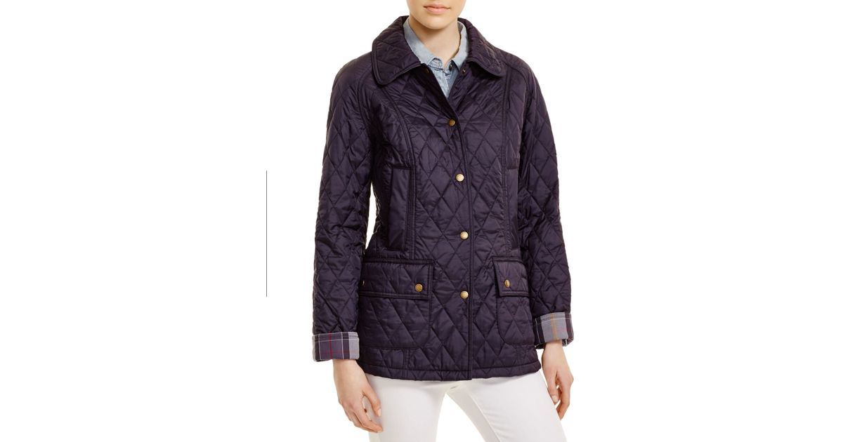 Barbour Summer Beadnell Quilted Jacket in Blue