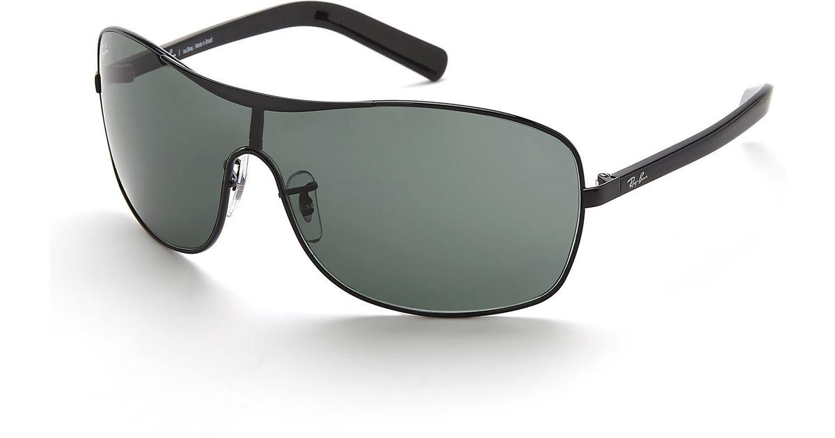 779a57829a9e2b Ray-Ban Black Rb3469L Shield Sunglasses in Black - Lyst