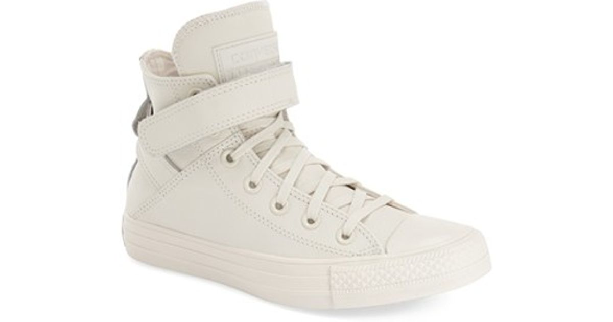 c6bb62a54d5c Lyst - Converse Chuck Taylor All Star  brea  Leather High Top Sneaker in  White