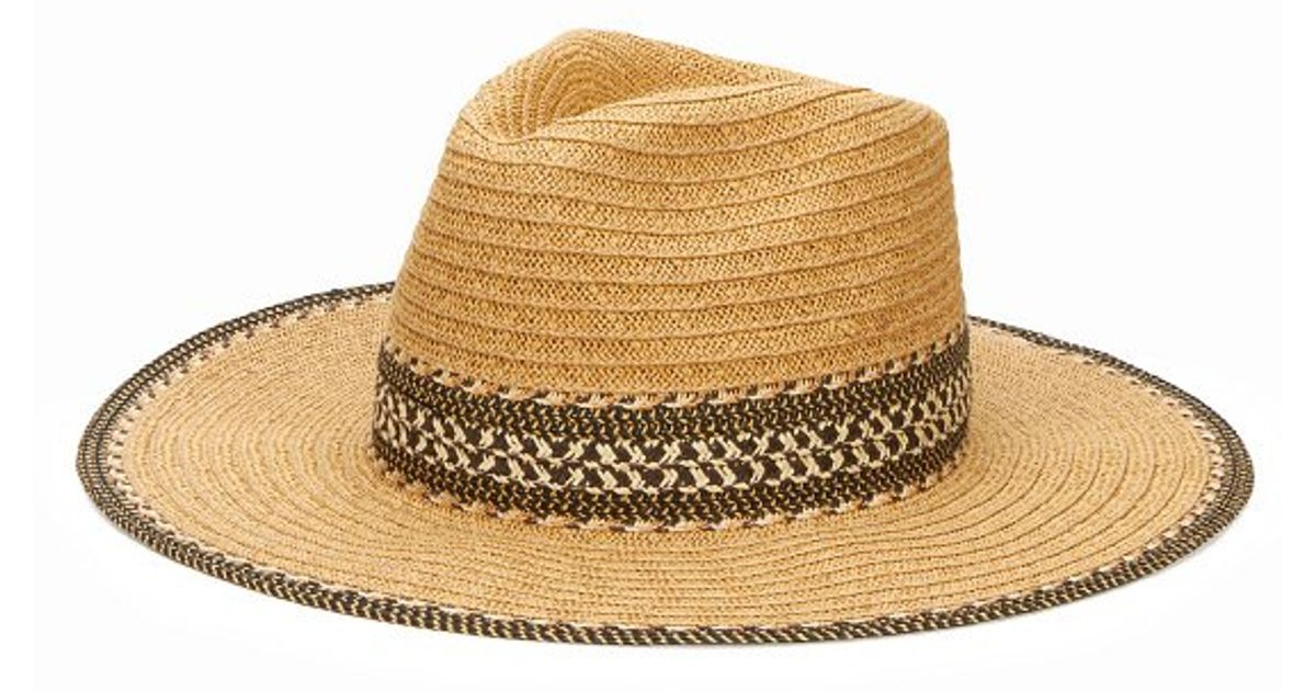 Lyst - San Diego Hat Company Women s Panama Fedora With Open Weave Band  Detail And Contract Edging in Natural 7d02b6a552bb