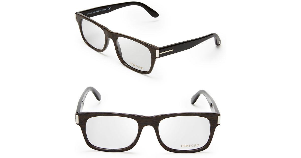Lyst - Tom Ford Wayfarer Optical Frames in Black