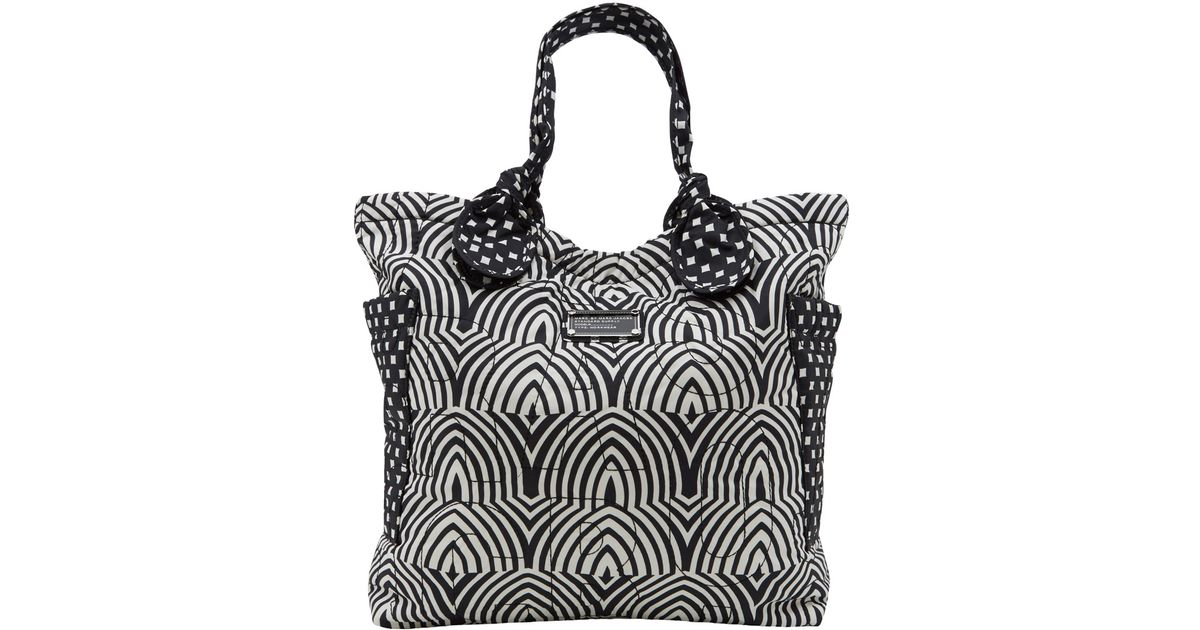 f3fd7721dca6 Marc By Marc Jacobs Black and White Pretty Nylon Tote Bag in Black - Lyst